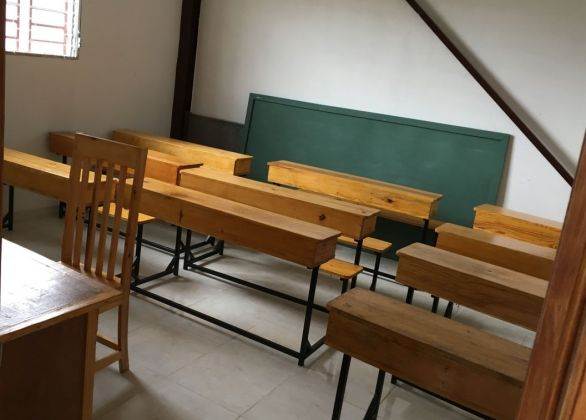 Stock A Classroom with Desks
