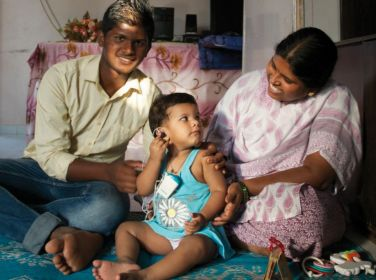 Hearing aid for one child